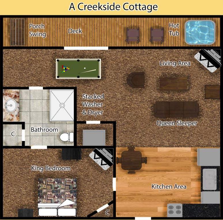 A Creekside Cottage