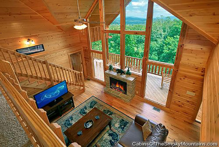 Pigeon forge cabin a great smoky mountain escape 5 - Gatlinburg 3 bedroom condo rentals ...