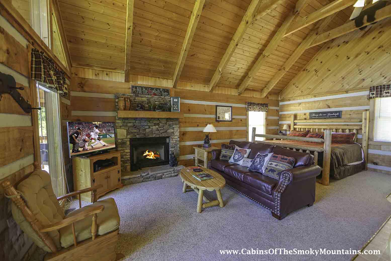 Pigeon Forge Cabin A Mountain Hibernation 1 Bedroom Sleeps 4