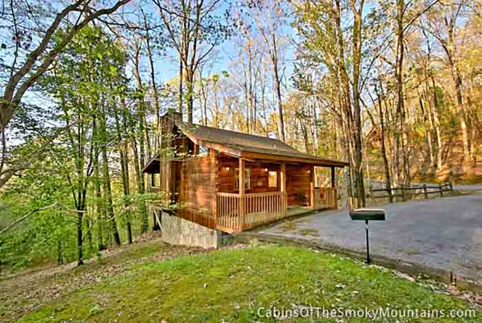 Pigeon forge cabin a private getaway from for Private secluded cabins in pigeon forge