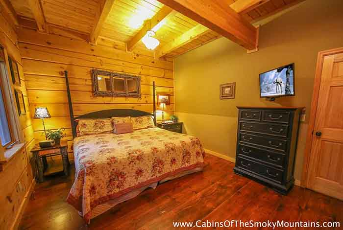 Pigeon forge cabin a waterfall at mccormack 39 s mill 3 for 8 bedroom cabins in gatlinburg