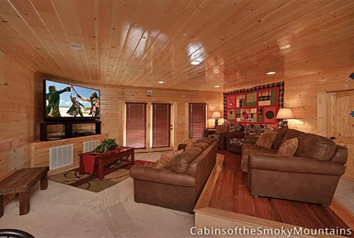 Pigeon forge cabin above the stars 12 bedroom sleeps - 12 bedroom cabins in gatlinburg tn ...