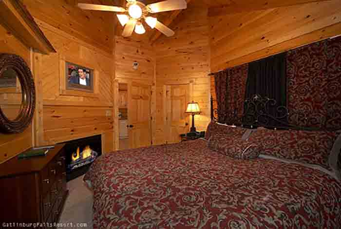 gatlinburg cabin almost paradise 1 bedroom sleeps 4 jacuzzi