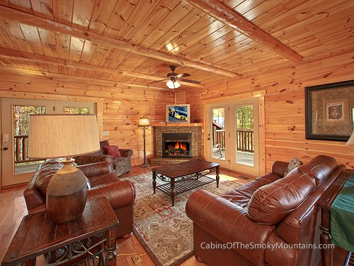 Cabin Majestic Views 4 Bedroom Sleeps 12 Bunk Beds Swimming Pool Access Pet Friendly