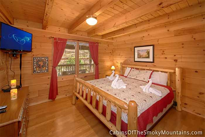 Pigeon forge cabin an outdoor retreat 2 bedroom sleeps 6 for 2 bedroom hotels in pigeon forge