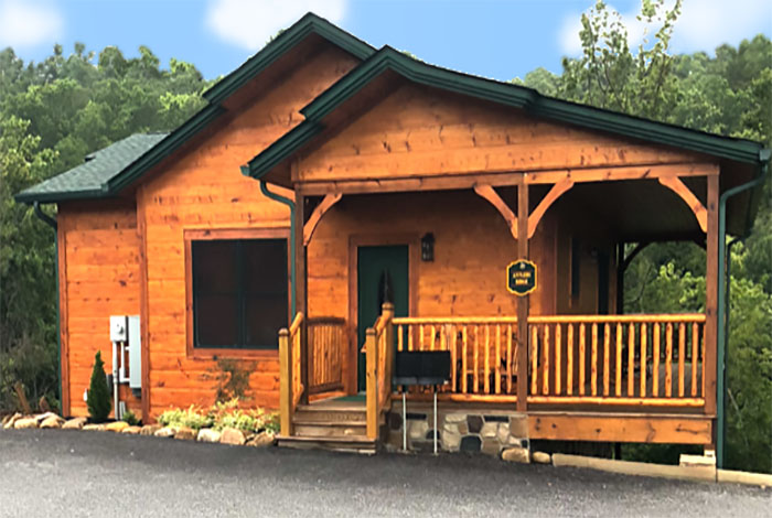 Gatlinburg cabin antlers ridge 1 bedroom sleeps 6 for Smoky mountain ridge cabins