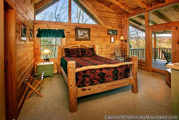 Pigeon Forge Cabin - Angel\'s View - 2 Bedroom - Sleeps 8 - Jacuzzi ...
