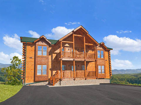 Pigeon forge cabin legacy mansion from for Pigeon forge large cabin rentals