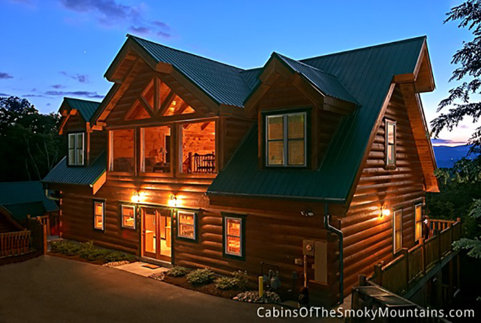 Gatlinburg Cabin Big Bear Lodge 5 Bedroom Sleeps 24 Jacuzzi Bunk Beds Home Theater