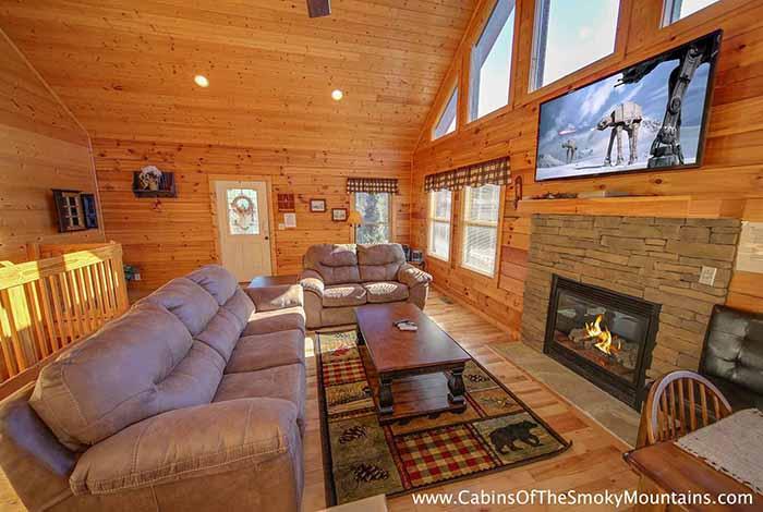 Pigeon Forge Cabin Mystic Mountain 3 Bedroom Sleeps 10 Jacuzzi