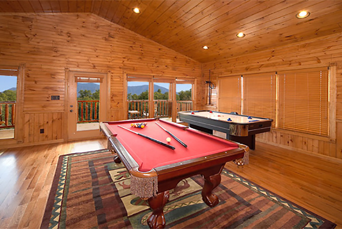 Gatlinburg Cabin Pinnacle View 1 Bedroom Sleeps 8 Jacuzzi Swimming