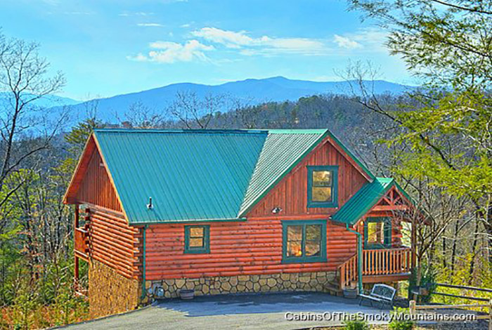 Pigeon forge cabin private indulgences 2 bedroom for Private secluded cabins in pigeon forge