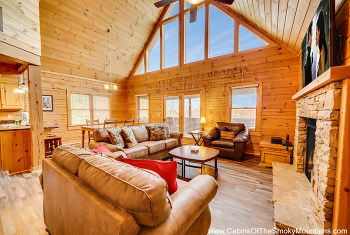 Pigeon forge cabin eagle view 2 bedroom sleeps 12 for Eagles view cabin sevierville tn