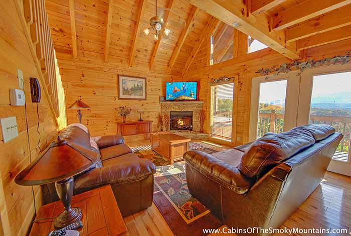 Enchanted 2 bedroom luxury cabin in pigeon forge with for 2 bedroom cabin in pigeon forge