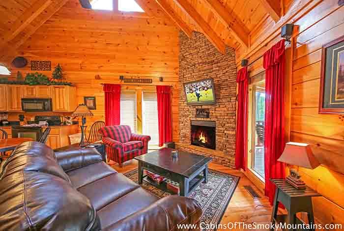 Pigeon forge cabin ever after from for Luxury pet friendly cabins pigeon forge