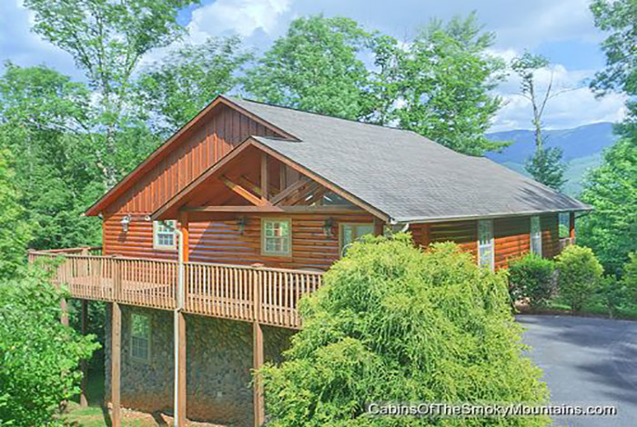 Pigeon forge cabin riversong ridge 3 bedroom sleeps 8 for Smoky mountain ridge cabins