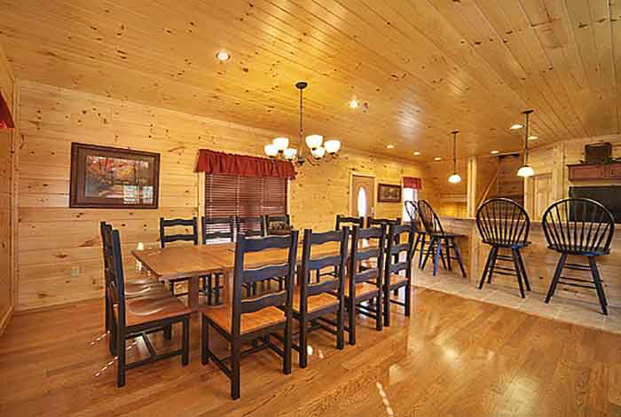 Pigeon forge cabin gatlinburg heights 5 bedroom for Premier smoky mountain cabin rentals