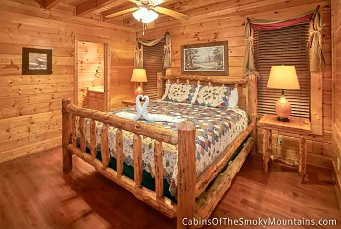 Pigeon forge cabin glorious dawn 2 bedroom sleeps 8 for 2 bedroom cabin in pigeon forge