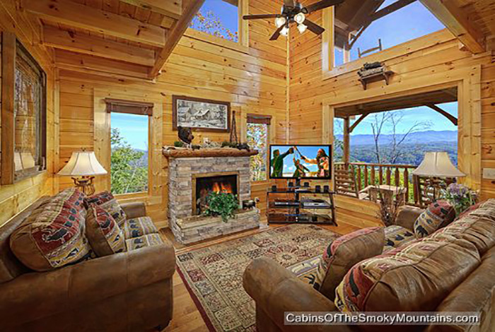 Pigeon Forge Cabin Scenic Sunrise 2 Bedroom Sleeps 11 Jacuzzi Swimming Pool Access Sauna