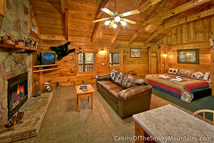Pigeon Forge Cabin Seclusion Cabin 1 Bedroom Sleeps 2