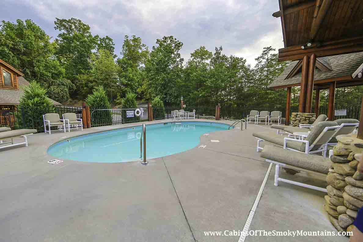 Pigeon Forge Cabin Growly Bear 2 Bedroom Sleeps 9 Jacuzzi Swimming Pool Access