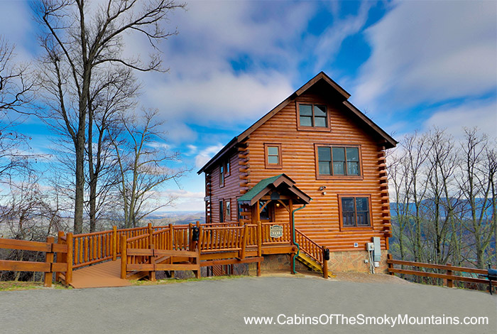 Pigeon forge cabin mountain top view lodge 3 bedroom Best mountain view cabins in gatlinburg tn