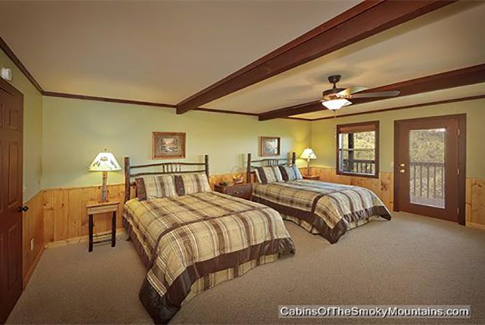 gatlinburg cabin smokies tower 6 bedroom sleeps 19