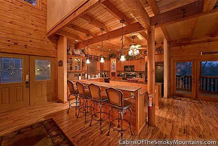 Pigeon forge cabin heaven 39 s hidden view 6 bedroom for Heavenly cabin rentals