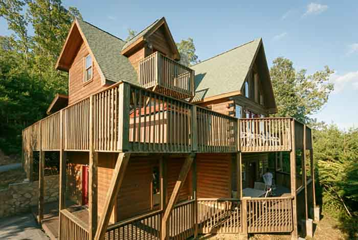 Pigeon forge cabin smoky mountain magic 4 bedroom - 4 bedroom cabins in gatlinburg tn ...
