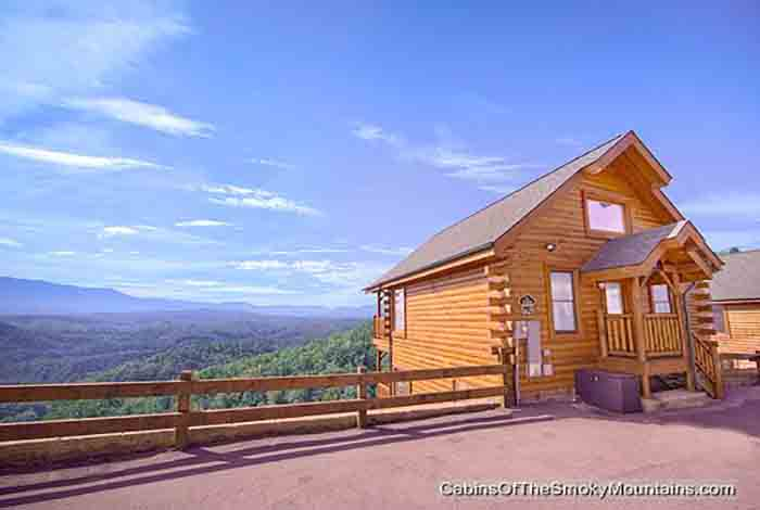 Pigeon forge cabin heavenly high 1 bedroom sleeps 6 for Heavenly view cabin sevierville tn