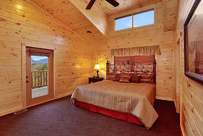 Pigeon forge cabin heavenly summit 2 bedroom sleeps 8 for Two bedroom cabins in gatlinburg