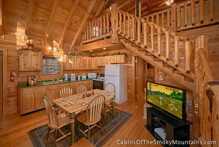 Pigeon forge cabin hidden haven 1 bedroom sleeps 6 for 1 bedroom cabin pigeon forge