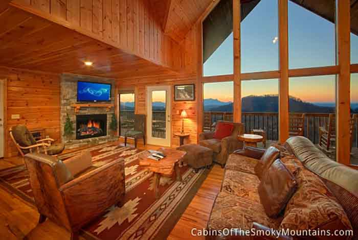 Pigeon Forge Cabin Highlander Lodge 6 Bedroom Sleeps 15