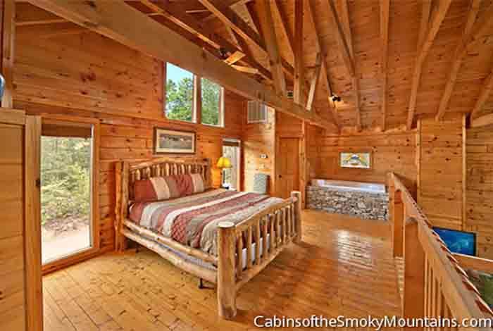 Pigeon Forge Cabin Indigo Moon Lodge 1 Bedroom Sleeps 8