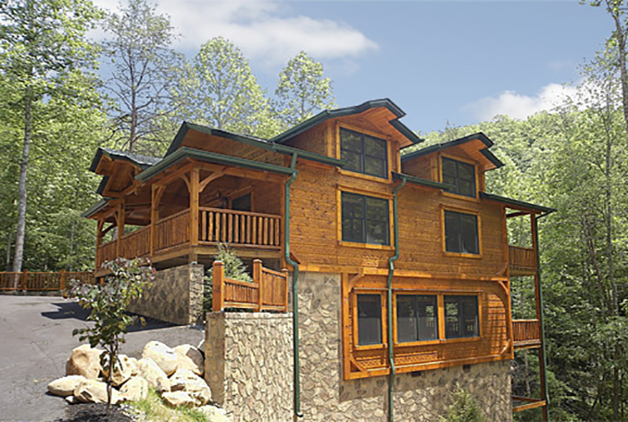 Gatlinburg cabin it takes two 2 bedroom sleeps 8 for Two bedroom cabins
