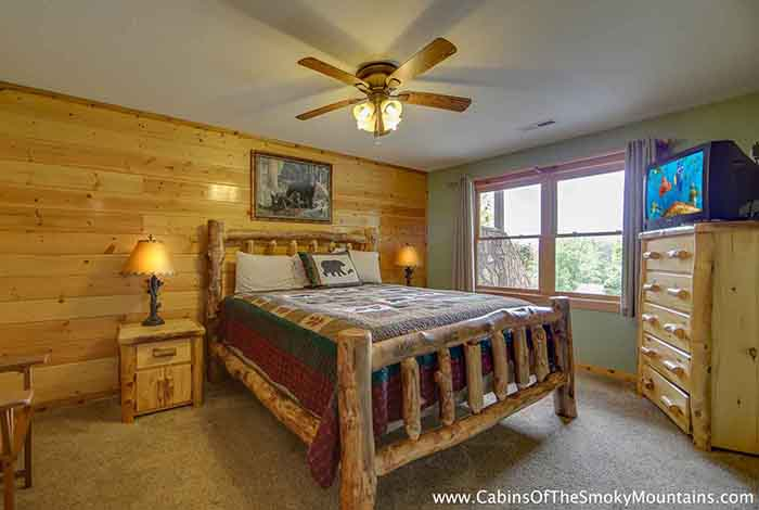Gatlinburg Cabin Smoky Top Lodge 4 Bedroom Sleeps 15 Bunk Beds Swimming Pool Access