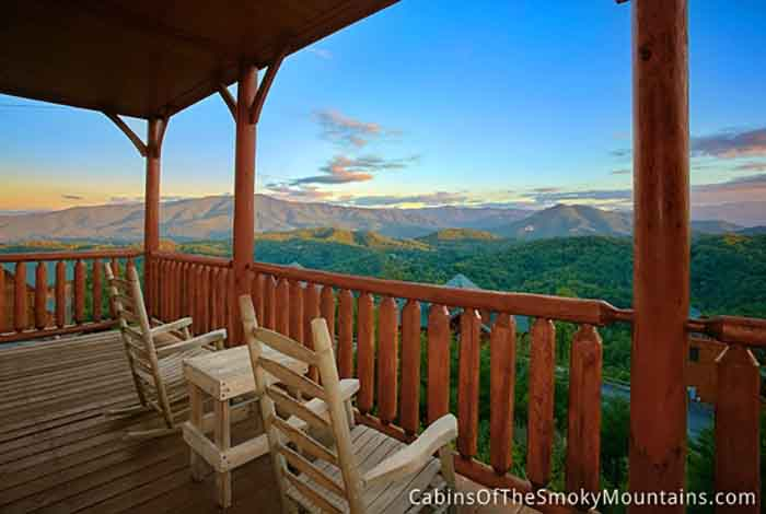 Soft Side Hot Tub >> Pigeon Forge Cabin - Smoky's Awesome View - 1 Bedroom - Sleeps 10