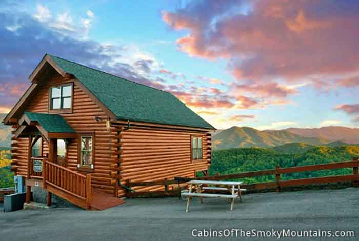 Pigeon forge cabin smoky 39 s awesome view 1 bedroom sleeps 10 for 2 bedroom hotels in pigeon forge