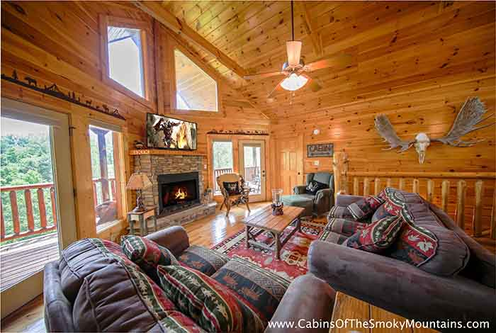 pigeon forge cabin knotty but nice from