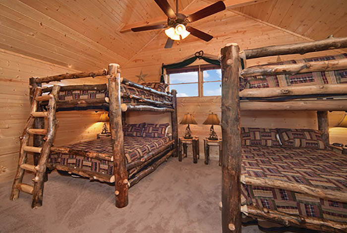 Pigeon Forge Cabin Legacy Lodge 12 Bedroom Sleeps 58 Jacuzzi Bunk Beds Swimming Pool