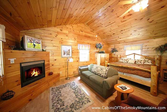 Pigeon forge cabin lil smokey 1 bedroom sleeps 4 - 4 bedroom cabins in gatlinburg tn ...