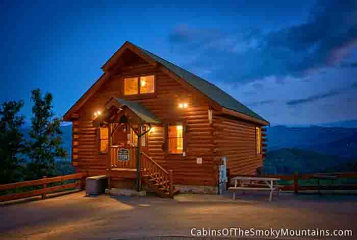 Pigeon forge cabin million mile view 1 bedroom sleeps 6 for Best mountain view cabins in gatlinburg tn