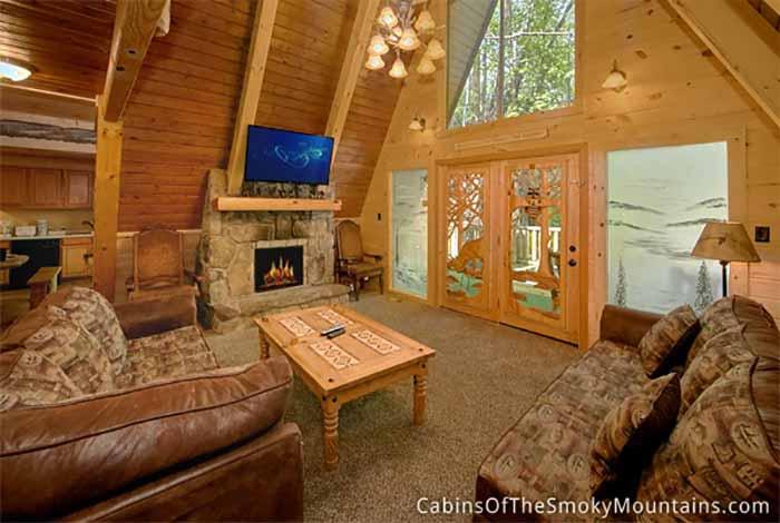 Gatlinburg Cabin Mountain Brook Lodge 12 Bedroom Sleeps 57 Jacuzzi Bunk Beds