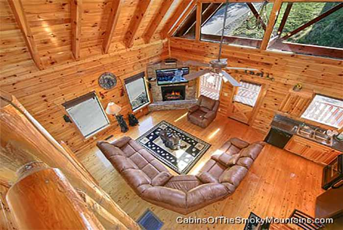 Pigeon forge cabin mountain memories lodge 4 bedroom for Www cabins of the smoky mountains com