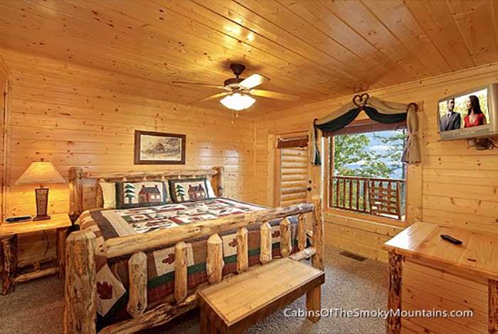 Pigeon Forge Cabin Mountain Mist 1 Bedroom Sleeps 4