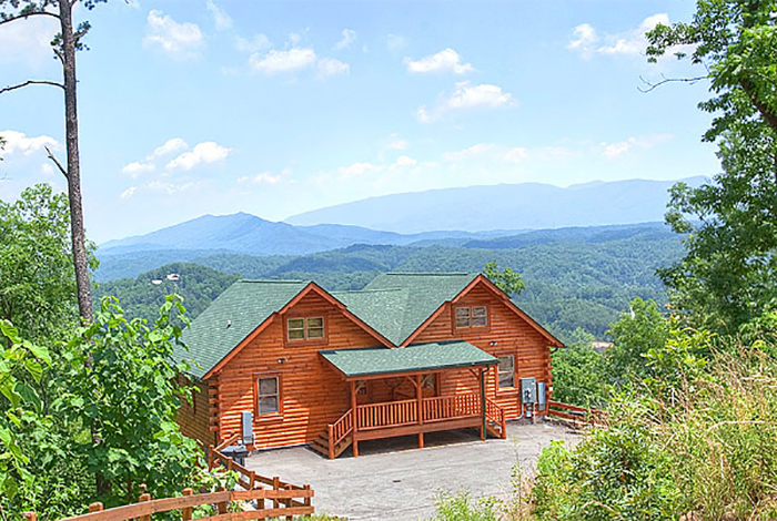 Pigeon forge cabin mountain mist 1 bedroom sleeps 4 for One bedroom cabins in pigeon forge tn