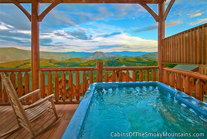 Pigeon forge cabin mountain top view 1 bedroom sleeps 4 Best mountain view cabins in gatlinburg tn