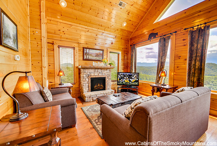 Pigeon forge cabin heavenly memories 2 bedroom sleeps 10 for Heavenly view cabin sevierville tn