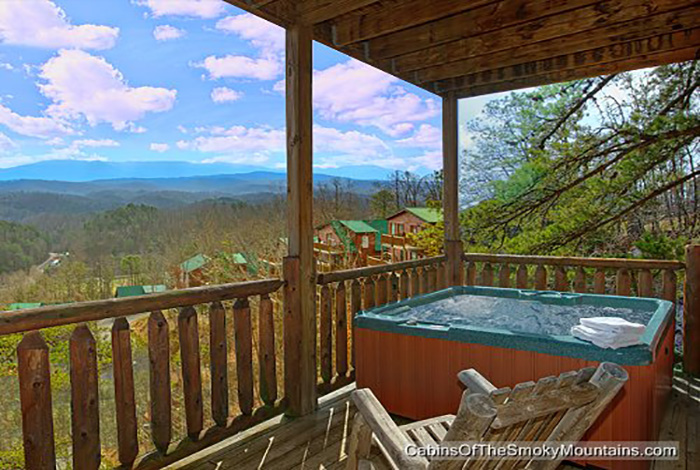 Pigeon Forge Cabin - All About the View - 4 Bedroom - Sleeps 12