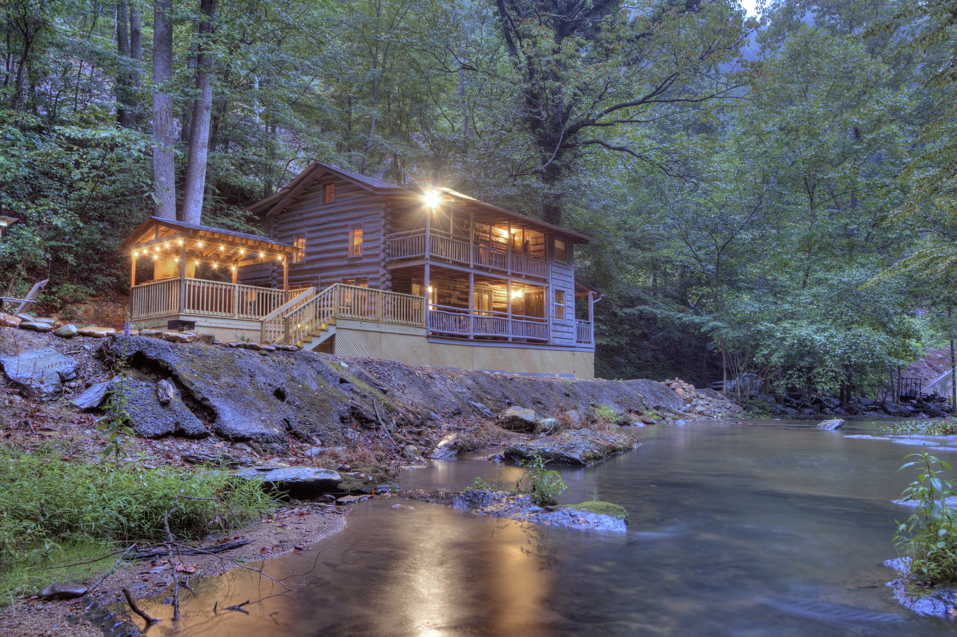 rental friendly cabin nest honeymoon pigeon forge sky mountain pet vacation tennessee cabins harbour heaven secluded smoky s